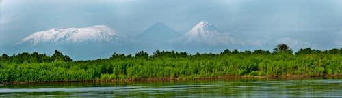 Kliuchevskoya volcano group