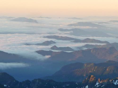 Morning Ridges Above the Clouds