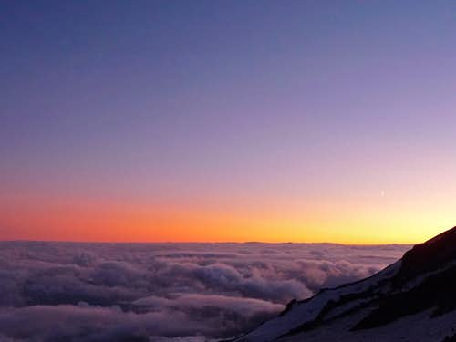 Sunset Colors from Camp Muir