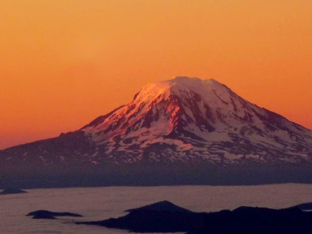 Sunrise on Mount Adams