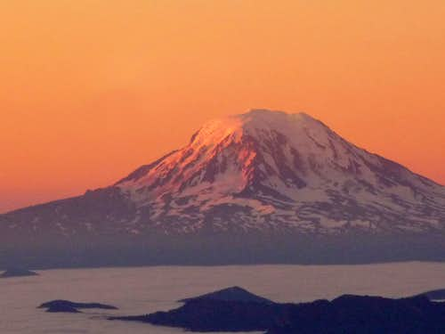 Sunrise on Mount Adams