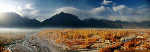 Skardu Valley during Autumn