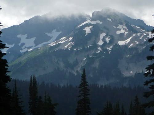 Mist over the Tatoosh Peaks