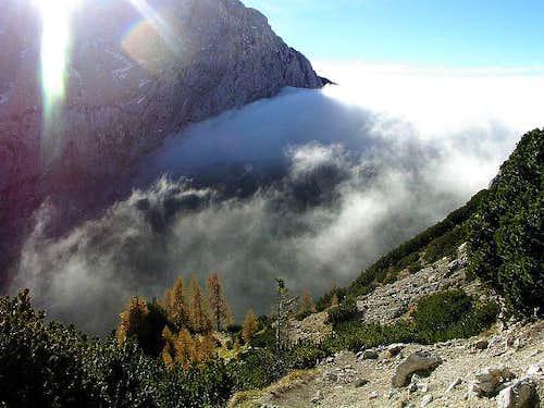 Vrsic Pass, 1611m is the main...