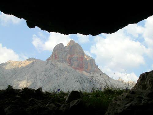Croda Rossa from the WWI trench
