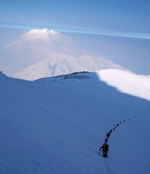 Ascending the slopes above...
