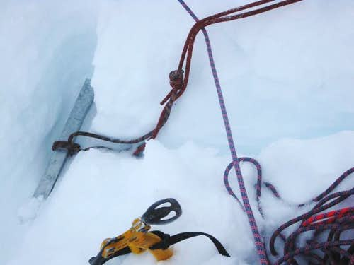 Summit anchor on Ausangate