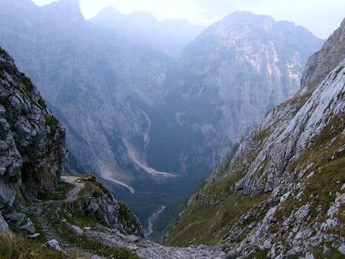 View from Luknja, Zadnjica...