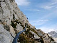 The secured trail to the top,...