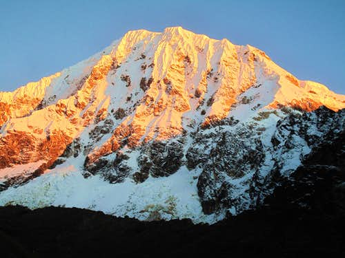 Salkantay with Alpenglow