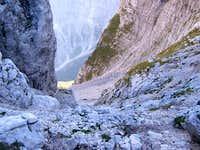 Descent through the Dovška...