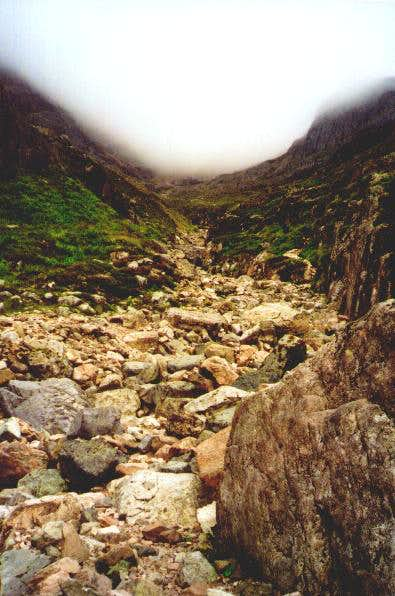 Looking up Coire na Tulaich.