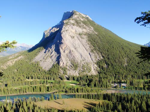 Mount Rundle And The Bow River