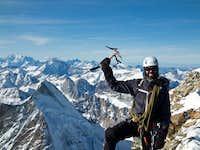 Happy Jaime. Mont Blanc to the left.