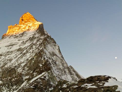 Matterhorn in the first light of day.