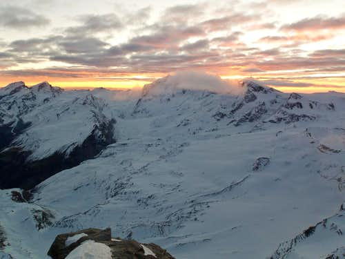 Sunrise over Breithorn.