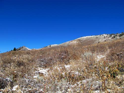 Box Elder peeks above ridge