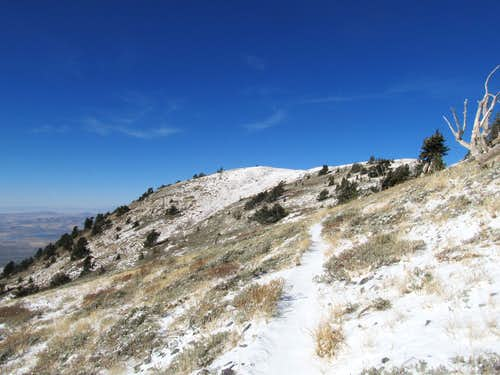 Final yards before summit