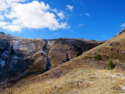 approaching ridge crest