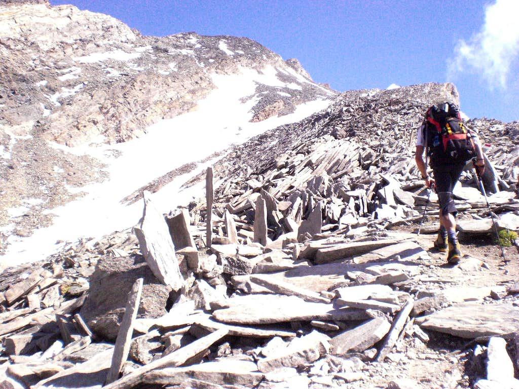 The alpine tombstones