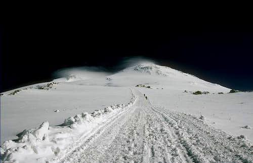 Elbrus from the ratrak way to...