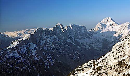 A nice mountain chain is...