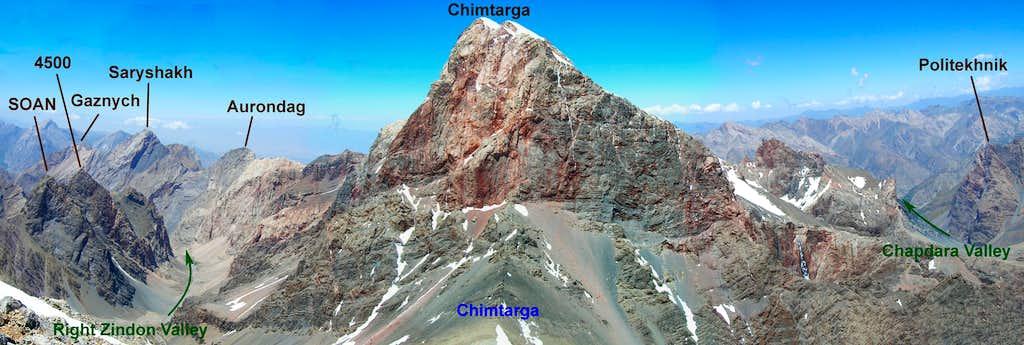 Chimtarga as seen from Energia