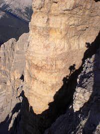 Shadows climbing the Cima Grande di Lavaredo