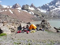 Camp at the Mutnye Lakes
