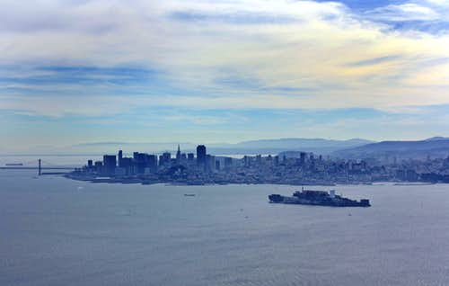 San Francisco and Alcatraz Island from Mt. Livermore