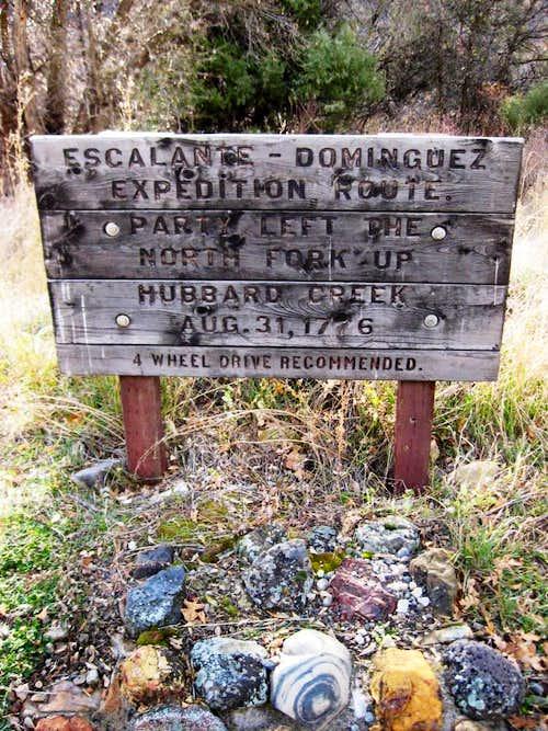 Historical marker - heading up Hubbard Creek