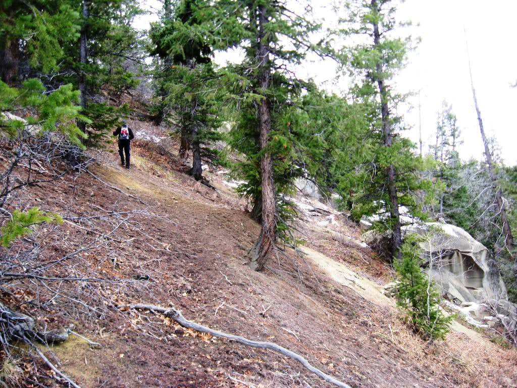 Sidehill traverse