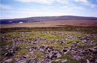 The boggy summit plateau...