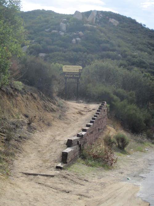 The starting point of the hike