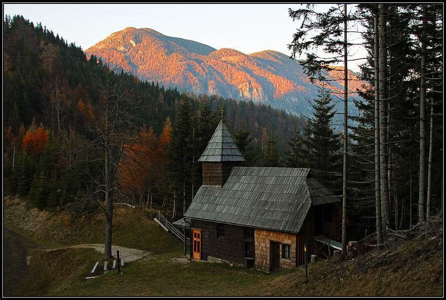 The small church on Maleznik saddle
