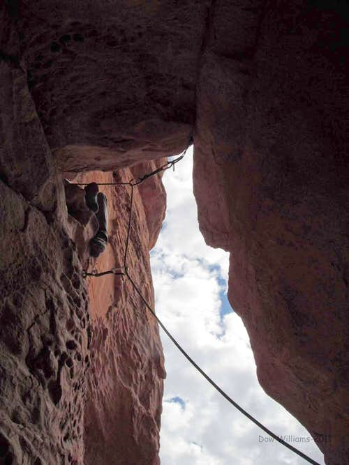 Trundlers Club Buttress, 5.10d