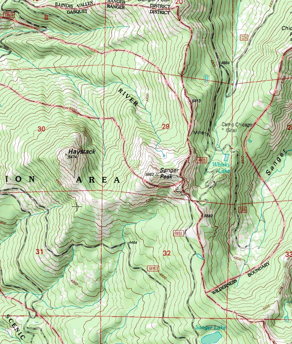 Sanger Peak Map