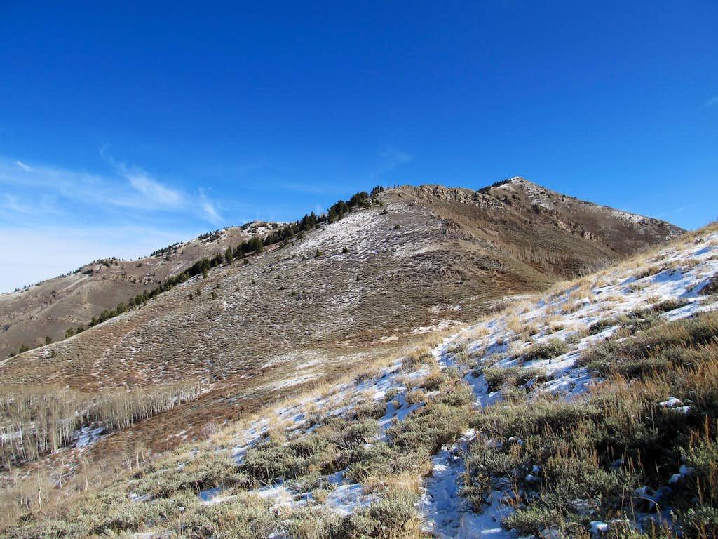 Lewiston Peak from W Ridge