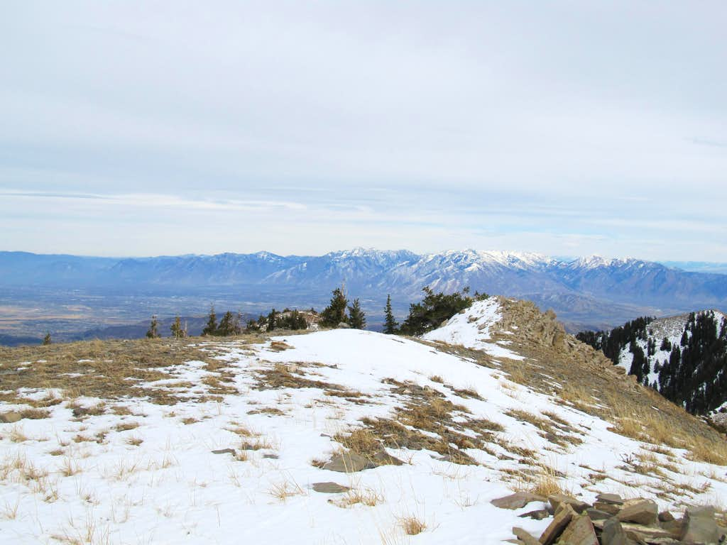Wasatch Front from Flat Top