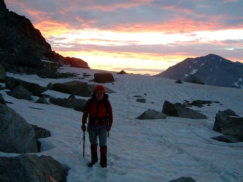 Sunrise on Piz Morteratsch