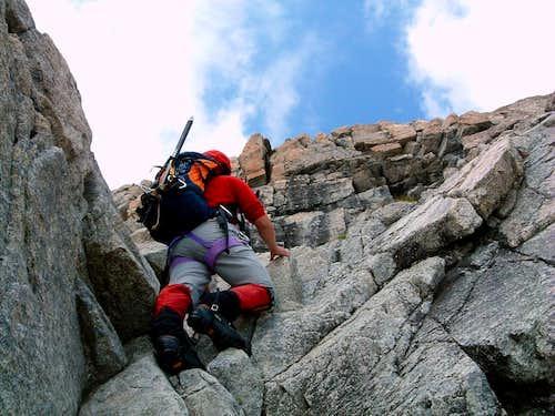 Piz Morteratsch Normal Route starting rocks