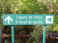 Signal to lake of Urbión