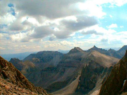 From Scree Col saddle...