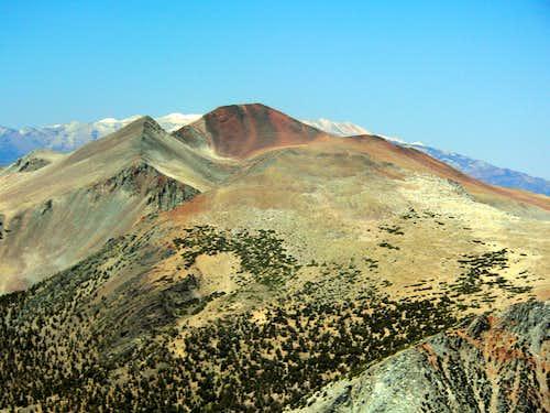 Warren Fin and Mt. Warren from the Dana Plateau