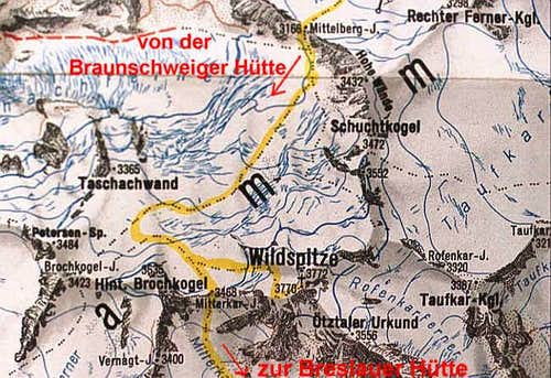 Wildspitze - Map