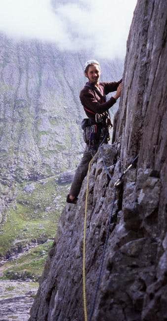 Pitch 3. Climber: Chris...