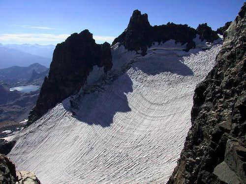 The southeast glacier of Mt...