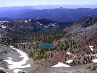 The Deadfall Lakes seen from...
