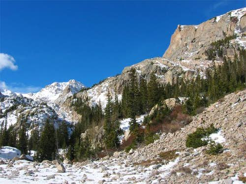 Ouzel Peak as seen from the...