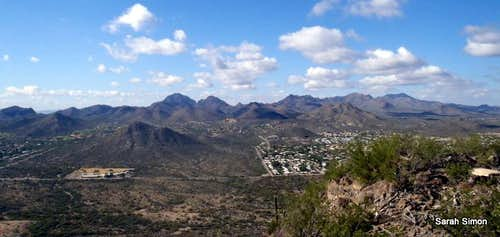 Tucson Mountains from Tumamoc Hill